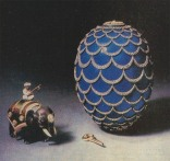 """Egg-–-""""pinecone.""""-Made-in-the-Imperial-court-by-jeweler-Carl-Faberge-firm-in-1900."""