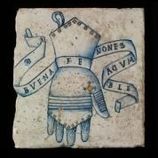 Gauntlet, inscribed in Spanish, 'Good faith is unchanging'