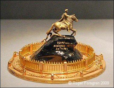 Bronze Horseman Fabergé miniature